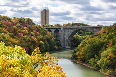 Colors of the Fall - Genesee River (HelenC2008) Tags: geneseeriver rochester stpaul senecapark fall foliage nikon d810