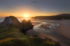 Three Cliffs Bay (rach_brown1989) Tags: gower wales welsh uk south coast shore sea seaside cliffs sand sanddunes river sun sunset evening light bbcwalesnature swansea