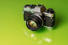Olympus OM10 (matt j fryer) Tags: olympus om10 slr film 35mm classic cameraporn green