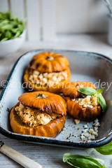 Pumpkins stuffed with spiced couscous and feta cheese (magshendey) Tags: autumn pumpkins orange foodphoto foodstyling