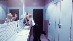 The girl in the bathroom -     (By Khusen Rustamov) (xusenru) Tags: girlfriendsfoolingaround girl beautiful beautifulgirl model portrait womensday picturesofwomen youth woman photoshoot hair art red fashion artirbisproduction xusenru sexy khusenrustamov women bautiful