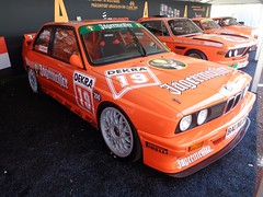 BMW M3 E30 (911gt2rs) Tags: event meeting show dtm tourenwagen youngtimer rennwagen jgermeister orange bimmer motorsport racing