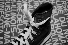 The black is beautiful (Pierrot 49) Tags: shoe blackandwhite blackandwhiteonly noiretblanc monochrome