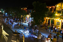 City of lights (Xnalanx) Tags: asia boat buildings environment hoian manmade night objects people places plants restaurant river time tourists trees vehicles vietnam water