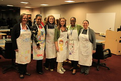 Our Students created the servers aprons this year - gorgeous!