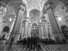 Catedral de Granada (Angel Talansky) Tags: granada city turismo andalucia catedral interior columnas catedraldegranada monumento turistas cathedral