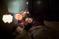 Sickbed lights (trois petits oiseaux) Tags: sick illness bed kids child light lowlight