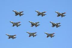 E-194 (IanOlder) Tags: f16 rdaf karup denmark flyvevbnet danish defence command general dynamics lockheed martin diamond nine flypast viper formation fighting falcon