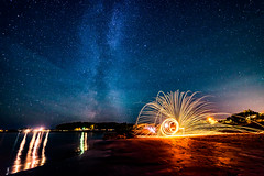 Night lights (Richard Larssen) Tags: richard richardlarssen rogaland larssen light norway norge norwegen nature night milky milkyway steel wool beach astro astrophotography stars
