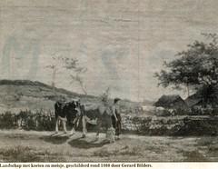 Renkum Landschap met koeien en meisje Schilderij Gerard Bilders 1860 collectie Fien Bos (Historisch Genootschap Redichem) Tags: renkum landschap met koeien en meisje schilderij gerard bilders 1860 collectie fien bos