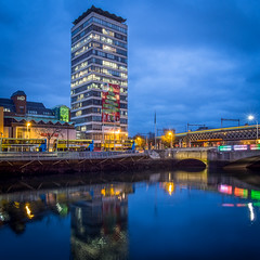 Liberty Hall (picturesbyJOE) Tags: liffey waterfront dublin1 water reflections city evening libertyhall dublincity bluehour rivers twilight architecture desmondreaokelly ireland europe countydublin edenquay capitalcity dublincitycentre urban dublin ie