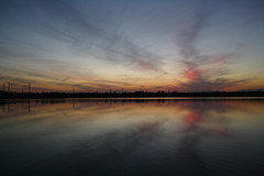 Lake at dusk (huzu1959) Tags: sigma lake foveon dp1merrill sunset dusk saitama toda japan reflection water