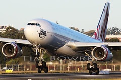 Kiss The Runway At Sunset (timbowrey) Tags: virgin australia va voz airbus sydney airport yssy syd