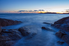 Foggy waves (Kejerith) Tags: longexposure nightscape sunset norway sea norge kenny kejerith