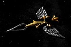 Arrow (Sky_PA (On and Off)) Tags: pendant macromondays arrow time space stars night clockhand sky macro quote