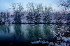 Beautiful Winter.  CCphotoworks (CCphotoworks) Tags: december beautiful lakes trees nature outdoors snow weather winterscene scene landscape winter
