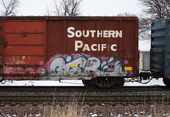 Gier (quiet-silence) Tags: graffiti graff freight fr8 train railroad railcar art gier wafact boxcar sp southernpacific sp248060
