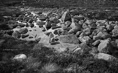 Rocks under water (I) [BW] (Modesto Vega) Tags: blackwhite cairngorms cairngormsnationalpark cloud coireanlochain d600 fullframe glacialcirque heather highland landscape monochrome mountain nikon nikond600 outdoor rock scotland sky stream unitedkingdom water
