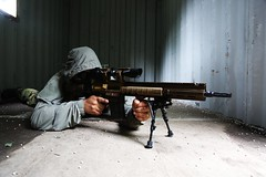 sniper prone g28 dmr (TheSwampSniper) Tags: airsoft sniper swamp bolt action ballahack marksman replica intervention elite force g28 novritsch owner field ghillie suit hood best dmr high powered spring aeg