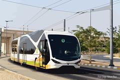 Viseon trolley. (Tomeso) Tags: trolley viseon electric bus medicine college saudi arabia
