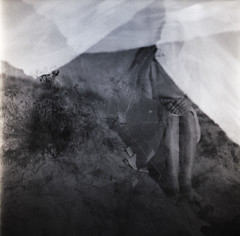 d.unes (Raimis T.) Tags: accuraflex multipleexposures fomapan100 6x6 analogue blackandwhite film silouette sand weeds madness surreal