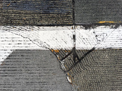 Peace Sign 2016 (WalrusTexas) Tags: abstract urbanabstract pavement straightdown stripes