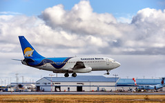 Canadian North Airline Boeing 737-200 C-GOPW (Stephen M. Fochuk) Tags: canadiannorthairline cgopw cyzf yellowknifeairport northwestterritories nwt clouds action
