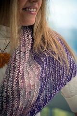 Silk and Mohair Shawl (MrPuffy) Tags: knitting shawl silk twisted drop stitch