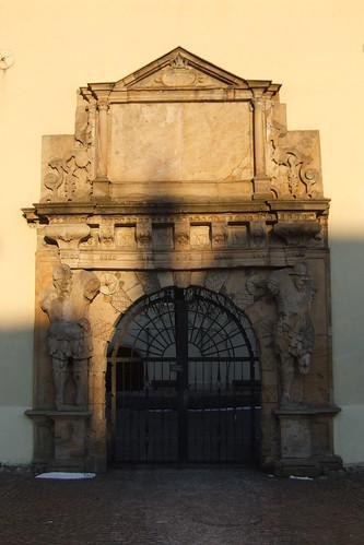 Portal of Castle of Bad Bergzabern, 12.02.2012.