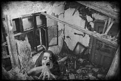 ... (Sareni) Tags: sareni horror ghost rusevina window door prozor vrata zidovi walls duh ruins old staro napusteno abandoned grede 2016 twop bwblackandwhite crnobela