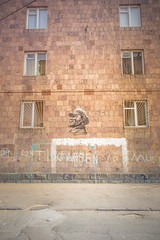 The Goal of communism (Demipoulpe) Tags: streetphotography armenia erevan lenin soviet streetart communist goal