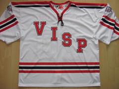 EHC Visp October 15, 2016 Anniversary Game Worn Jersey (kirusgamewornjerseys) Tags: ehc visp game worn jersey ice hockey kim lindemann nlb switzerland