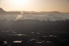 Morgenblne -|- Morning light all over (erlingsi) Tags: bergen blne noreg hordland luft fog ryk smog mllendal buildings bygg fjellveien luftforurensning