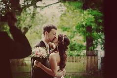 (Bildersommer) Tags: wedding love colors vintage groom bride kiss couple warm married marriage kisses lovers justmarried emotions intimacy feelings justlove