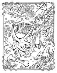 MAMMOTH_Evans_p02 (RetroArtBlog.com) Tags: book evans bridges larry mammoth coloring 1978 dennis press troubador tertiary paleocene cenozoic purgatorius plesiadapis planetetherium
