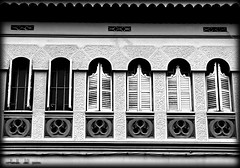 4shuttered2opened (experimental) (orlando del pozo) Tags: summer bw spain sommer shutters blinds sw catalunya sitges spanien katalonien fensterladen fz150