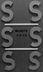 MLN078 (Chocolate Concepts) Tags: chocolate letters s number numbers letter mold