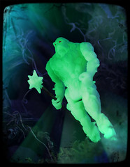 Kenner Swamp Thing - Swamp Thing [Bio-Glow] (Ed Speir IV) Tags: monster dark toy actionfigure book tv comic glow action thing cartoon glowinthedark swamp hero figure superhero glowing kenner mace swampthing creature 1990s 90s gitd bioglow