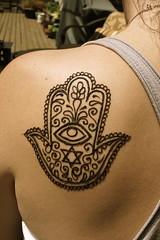 Hamsa shoulder (Meghan's Mehndi) Tags: seattle henna mehndi hennatattoos hennadesigns hennaphotos mehndidesigns meghansmehndi