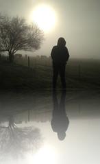 A rare selfie (phunnyfotos) Tags: winter sun weather silhouette fog sunrise person treesilhouette foggy australia victoria vic gippsland iphone selfie iphone5 phunnyfotos timercam gippypics