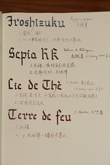 Inks (zivein) Tags: ink fountainpen calligraphy rk jherbin   iroshizuku rohrerklingner inkreview