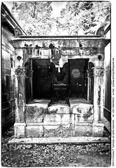 Pre Lachaise (Nicolas P. Tschopp) Tags: paris cemetery grave graveyard stone dead memorial shrine catholic cross tomb tombstone gothic goth cyprus graves christian spooky mausoleum gravestone restingplace vault crypt cy tombs necropolis burialground mortal prelachaise commemoration burialplace vitraux sepulchre nicosia eternalrest 20thdistrict kaimakli