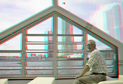 Rijnhaven Drijvend Paviljoen 3D (wim hoppenbrouwers) Tags: 3d rotterdam floating anaglyph stereo pavilion domes paviljoen wilhelminapier redcyan rijnhaven koepels stereopicture floatingpavilion drijvendpaviljoen