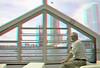 Rijnhaven Drijvend Paviljoen 3D (wim hoppenbrouwers) Tags: rijnhaven paviljoen 3d rotterdam anaglyph redcyan floating pavilion domes floatingpavilion koepels stereo stereopicture wilhelminapier drijvendpaviljoen ron