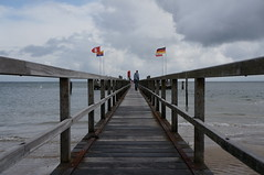Pier (individual8) Tags: germany pier august flags walkway foehr 2013
