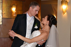 Dance with me (Dmitry Kaminsky) Tags: flowers wedding love happy bride dance joy young marriage husband latvia wife riga fiance fiancee saulkrasti bridecouple baltakapa