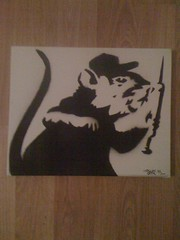 My take on a banksey rat (Dundonian ) ;) SYKE (SYKEGRAFFITI) Tags: for stencil rat dundee sale canvas graff syke banksey