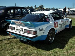 1982 Mazda RX7 series II coupe - Group C replica (sv1ambo) Tags: allan james 1982 baker c group replica ii craig series tribute mazda rx7 bathurst coupe 1000 moffat hardie 2013 shannonseasterncreekclassic sydneymotorsportpark