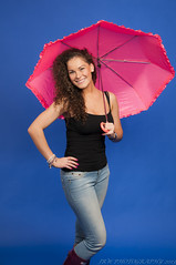 Umbrella (JRT ) Tags: lighting light wallpaper woman haircut sexy girl smile smiling wall lady female umbrella pose hair studio lights model hands birmingham nikon breasts shoot colours boobs background flash tripod watch bra models emma young longhair jewellery jeans hips backdrop backlit colourful brunette cleavage wellies softbox westmidlands wellingtons backlighting longlegs jewelleryquarter strobes triggers paperbackdrop d300s johnwarwood flickrjrt