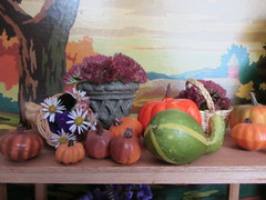 (15) Autumn at the Farm Stand (Foxy Belle) Tags: flowers autumn holiday fall halloween scale grass pumpkin miniature doll farm harvest barbie mum gourd blythe 16 diorama dollhouse playscale